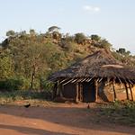 Karamajong village, Kidepo