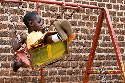 children at play at the ccf childhood development center