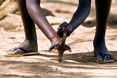 playing marbles in soroti