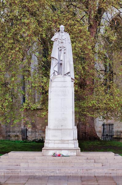 King George V Statue,  London, UK