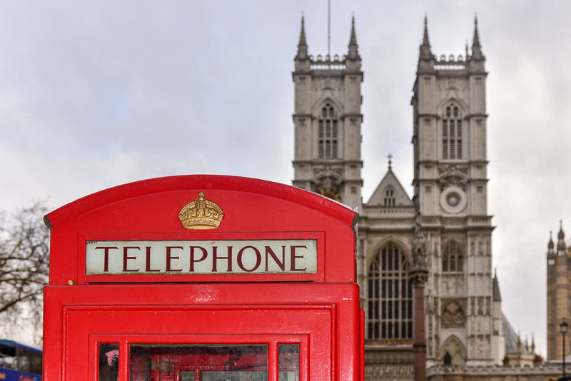 Red Telephone Box - Westminster Abbey
