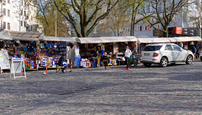 "Ukraine-2017.  Kiev.  Some souvenir stands along ""Andrew's Descent"" near St. Michael's Monastery and St. Andrew's Church. <br /> <a href=""http://www.visitkievukraine.com/sights/andrews-descent/"">http://www.visitkievukraine.com/sights/andrews-descent/</a>"