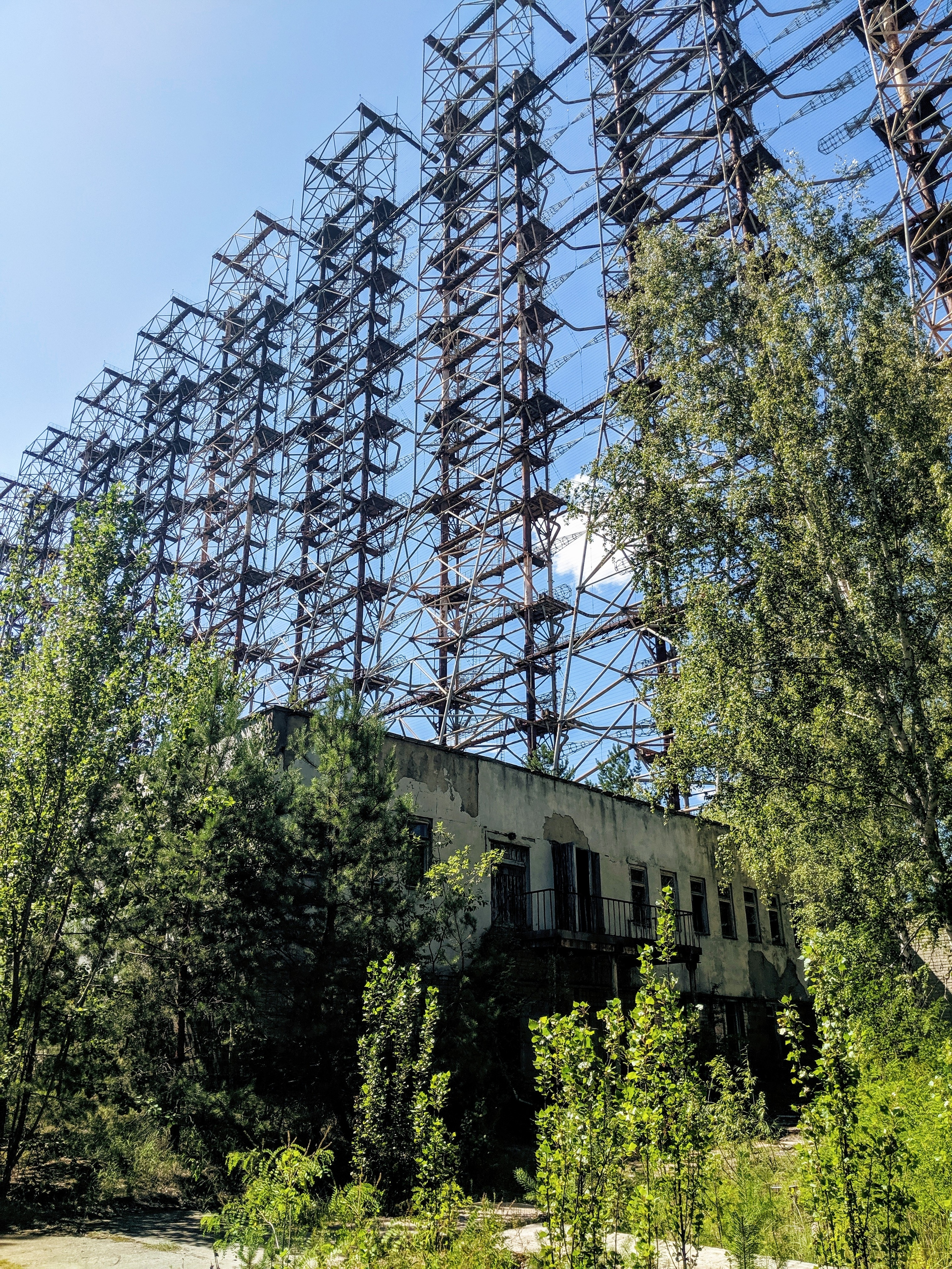 Chernobyl photos - Duga radar view