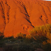 Part of Uluru in the morning