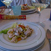At Locanda Lorena ristorante for our luncheon we were served a seafood salad.