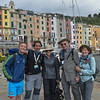 Monday, May 23, 2016, was our first day to hike together - and also the birthday of Andi Kaden and also of Bob Beggs.  Here they are as we prepare to depart Portovenere with our guides Franckie  and Boris along with Bob's wife Nancy.