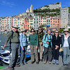Our May 21 - 29, 2016 Road Scholar Group ( minus Jim T.), at Portovenere harbor.  Bob and Nancy B., Linda and Jim S., Beth T., Michael S. and Andi K.  Photo taken by Jim T. as we were ready to depart on our second day, May 24, 2016.