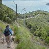 Descending the trail on Palmaria Island making our first hike together.  <br /> May 23, 2016.