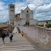 Approaching the Basilica of Saint Francis of Assisi, 16 May 2016.