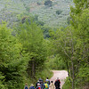 Our group walking a country road from near Gualdo Cattaneo.