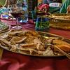 Porchetta served at lunch at Antico Frantoio Nunzi near Bevagna.