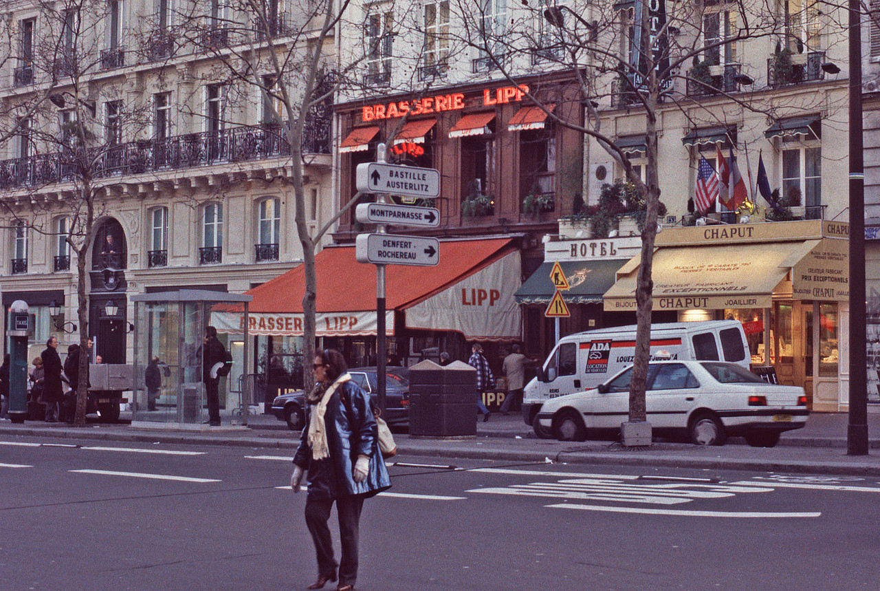 Across the Street: Brasserie Lipp, One of Mitterand's hangouts