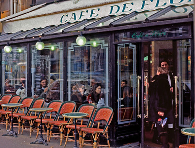 Café de Flore: existentialist hang out