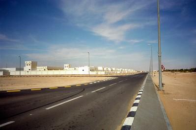 Nieuwbouwwijk in de woestijn