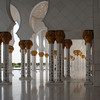 Sheikh Zayed Grand Mosque: shadowed colonnade.