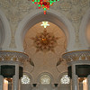 Sheikh Zayed Grand Mosque: interior with chandelier.
