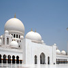 Sheikh Zayed Grand Mosque: courtyard and entrance to main prayer hall.