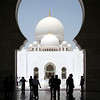 Sheikh Zayed Grand Mosque: main entrance vestibule, with view towards main prayer hall portal.