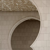 Sheikh Zayed Grand Mosque: archway detail of main entrance vestibule.