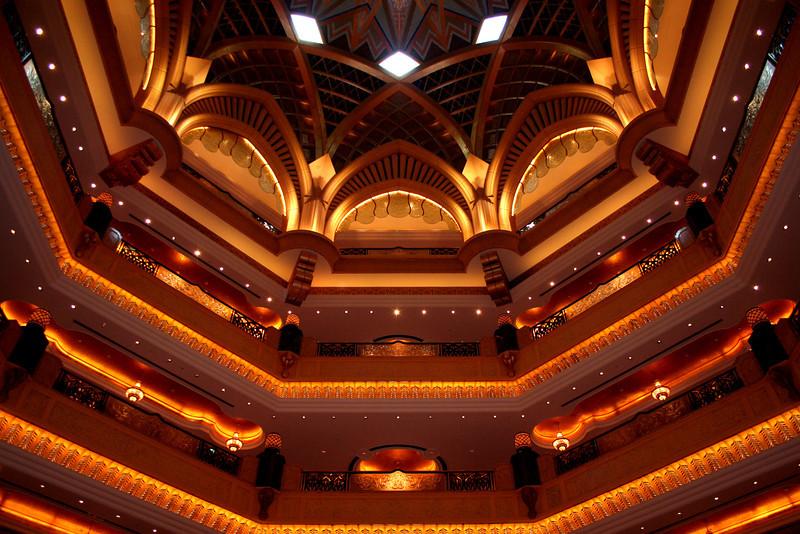 Emirates Palace Hotel: atrium detail.