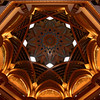 Emirates Palace Hotel: atrium dome detail.