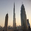 This was the view of the Burj Khalifa (center), the world's tallest building (for now).