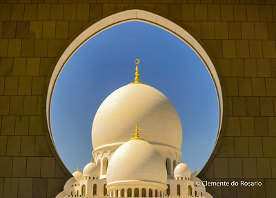 Domes of the Sheikh Zayed Grand Mosque, Abu Dhabi, UAE