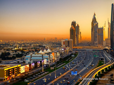 View of Sheikh Zayed Road, Dubai