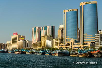 Deira Twin Towers in Deira along Dubai Creek, UAE