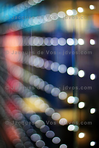 Star Filled Glass  Bokeh shot of the glass panel walls at Dubai International Airport