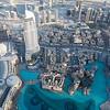 Downtown Dubai taken from the 124th floor in the Burj Khalifa