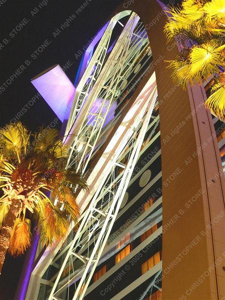 UAE - Dubai - Jumeira - Burj al-Arab - night  - palms