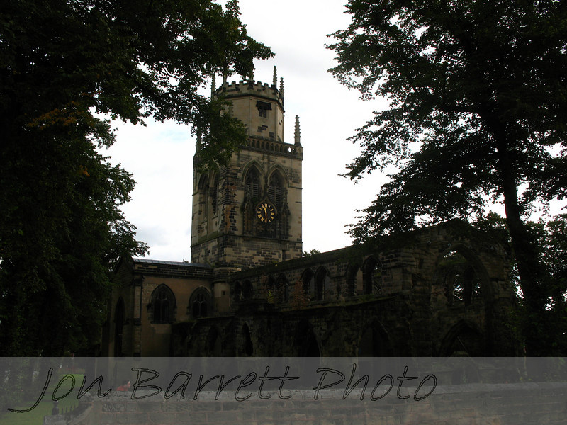 Pontefract Parish Church (burned by Roundheads during English Civil War)