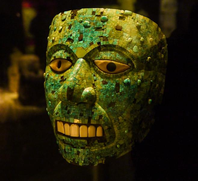 Turqouise Mosaic Mask, Mexico, British Museum