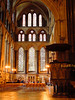 Inside Salisbury Cathedral - stained glass window