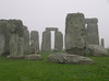 Stonehenge in fog, Nov 2006