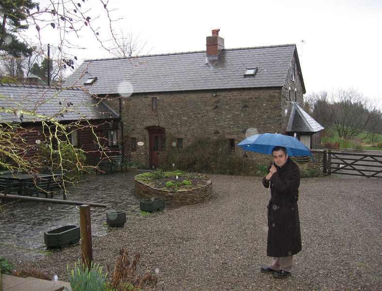 Courtyard of the rented cottages where other relatives stayed.