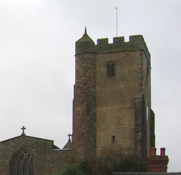 Church in the village of Leintwardine, Shropshire