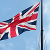Union Flag flying from the staff of the Victoria Tower at the Palace of Westminster.
