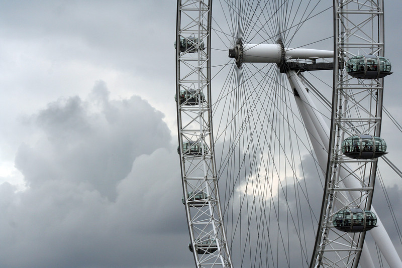 Midsummer in Britain, with the London Eye.