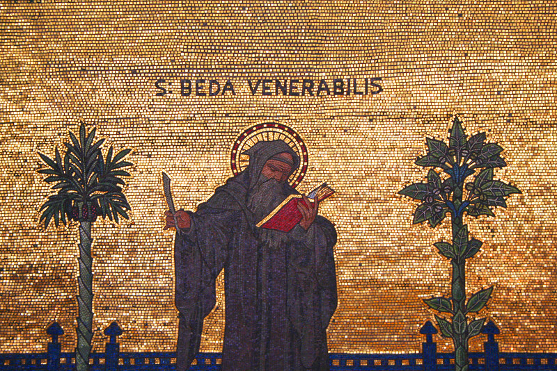 The Venerable Bede: Westminster Cathedral mosaic.