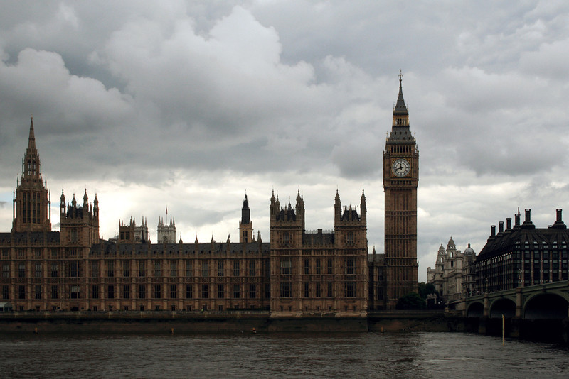 Palace of Westminster and Westminster Bridge.