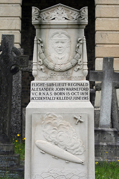 Brompton Cemetery monument: I *think* he died in an airship crash.