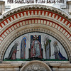 Westminster Cathedral: main entrance portal tympanum mosaic.