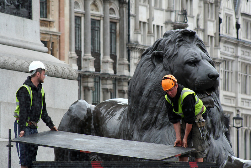 Preparing for the Olympics @ Trafalgar Square.