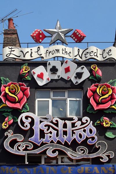 Tatoo parlour, Camden Town.