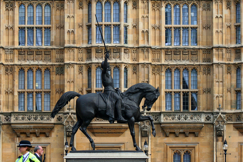 Richard Coeur de Lion, Palace of Westminster.