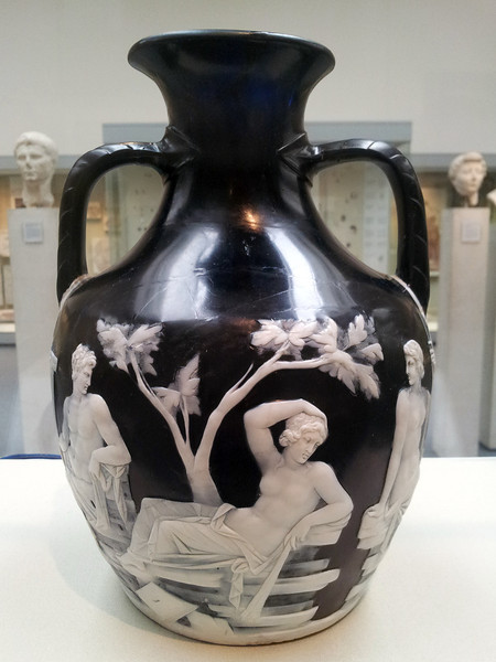 One of the most celebrated artefacts in the British Museum... the Portland Vase: scene 2 - a divinatory dream by Hecuba that the Judgement of Paris would lead to the destruction of Troy.