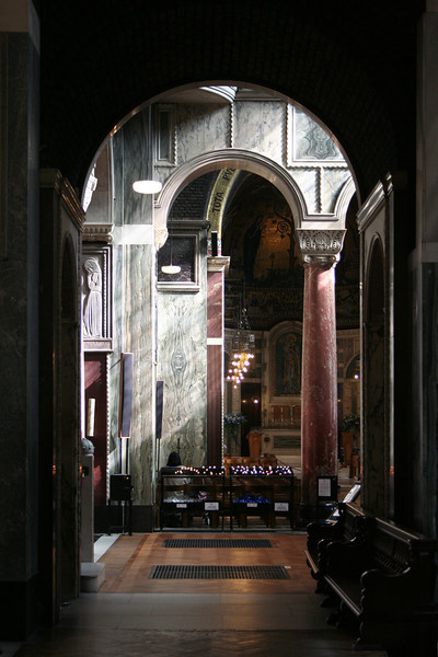 Westminster Cathedral interior.