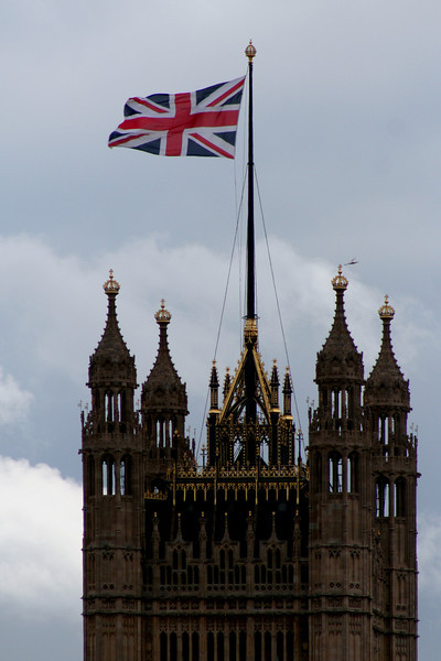 The Victoria Tower of the Palace of Westminster.
